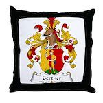 Gertner Family Crest Throw Pillow
