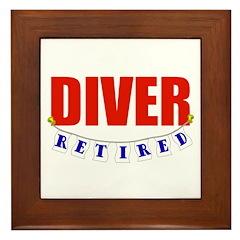 Retired Diver Framed Tile