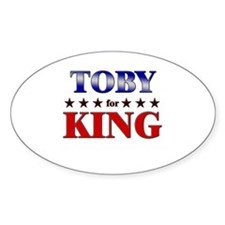 TOBY for king Oval Decal
