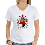 Gersdorf Family Crest Women's V-Neck T-Shirt