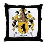 Gering Family Crest Throw Pillow