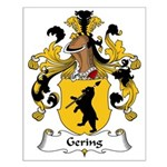 Gering Family Crest Small Poster
