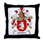 Gerhart Family Crest Throw Pillow