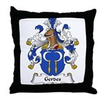 Gerdes Family Crest Throw Pillow