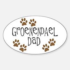 Groenendael Dad Oval Decal