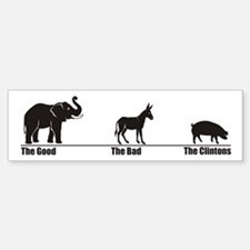 The Good The Bad Bumper Bumper Bumper Sticker