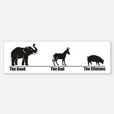 The Good The Bad Bumper Car Car Sticker