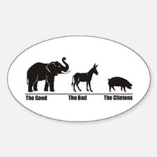 The Good The Bad Oval Decal