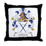 Gebhard Family Crest Throw Pillow