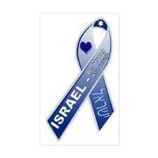 Blue Ribbon Campaign Rectangle Decal