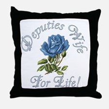 Deputies Wife For Life Throw Pillow