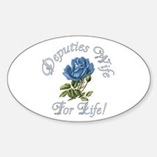 Deputies Wife For Life Oval Decal