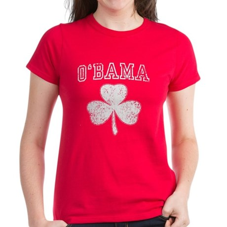Barack Obama Shamrock Women's Dark T-Shirt