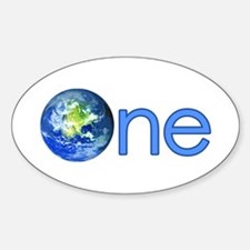 One Earth Oval Decal