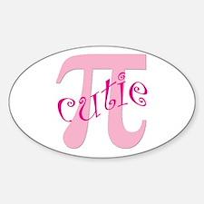 Cutie Pi Oval Decal