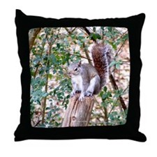 Right Squirrel on Post Throw Pillow