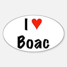 I love Boac Oval Decal