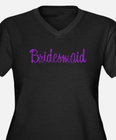 Bridesmaid - Purple Rocker Women's Plus Size V-Nec