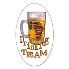 Africa Drinking Team - Oval Decal