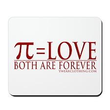 Pi = Love Mousepad