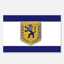 Jerusalem Municipal Flag Postcards (Package of 8)