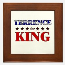 TERRENCE for king Framed Tile