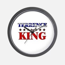 TERRENCE for king Wall Clock