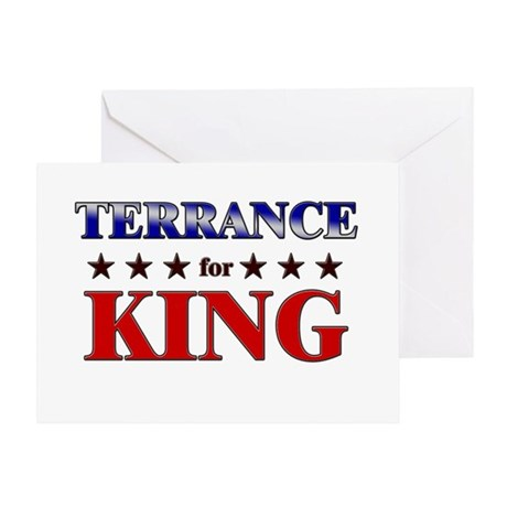 TERRANCE for king Greeting Card