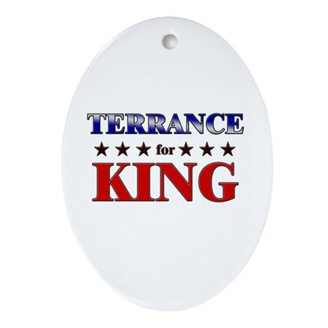 TERRANCE for king Oval Ornament