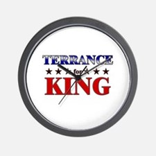 TERRANCE for king Wall Clock
