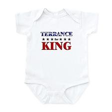 TERRANCE for king Infant Bodysuit