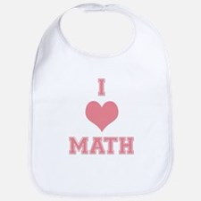 Pink I Heart Math Varsity Bib
