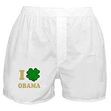 I Shamrock Obama Boxer Shorts