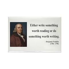 Benjamin Franklin 18 Rectangle Magnet