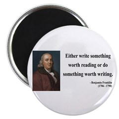Benjamin Franklin 18 Magnet