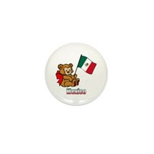 Mexico Teddy Bear Mini Button (100 pack)