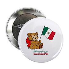 "Mexico Teddy Bear 2.25"" Button (10 pack)"