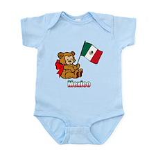 Mexico Teddy Bear Infant Bodysuit