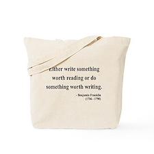 Benjamin Franklin 18 Tote Bag