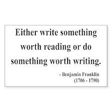Benjamin Franklin 18 Rectangle Decal