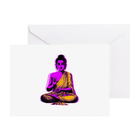 Buddha Pop Art Greeting Card