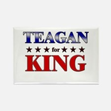 TEAGAN for king Rectangle Magnet