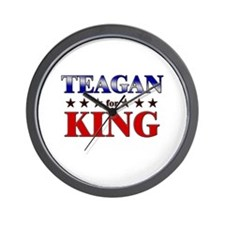TEAGAN for king Wall Clock