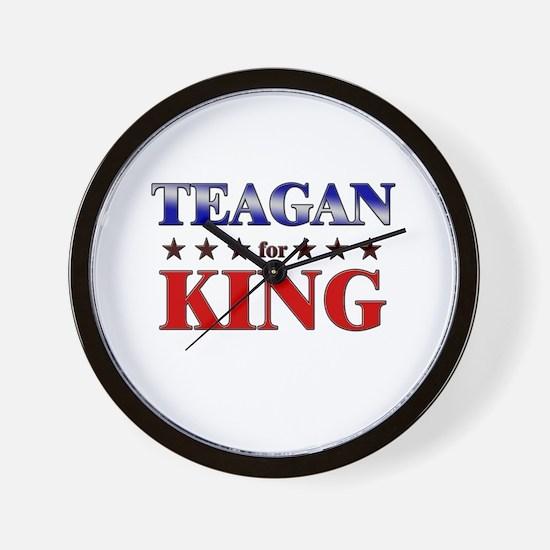 TEAGAN for king Wall Clock