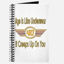 Funny 40th Birthday Journal