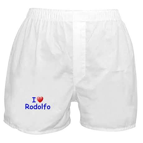 I Love Rodolfo (Blue) Boxer Shorts