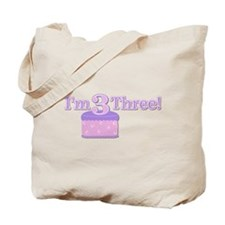 I'm Three! Tote Bag