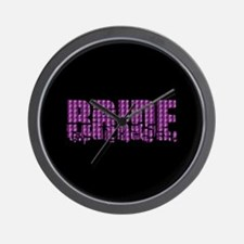 Bride - Purple Earthquake Wall Clock