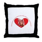 Mothers hold our tiny hands Throw Pillow