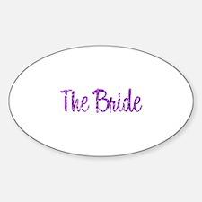 Bride - Purple Rocker Oval Decal